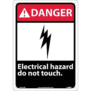 Danger, Electrical Hazard Do Not Touch, 14X10, Rigid Plastic