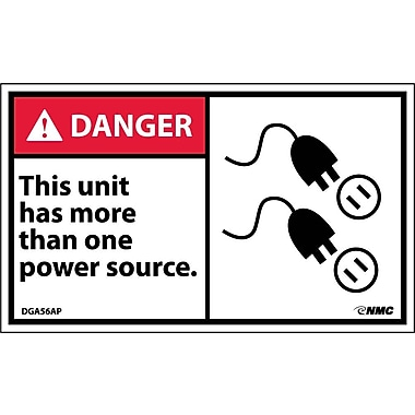 Labels Danger, This Units Has More Than One Power Source, 3