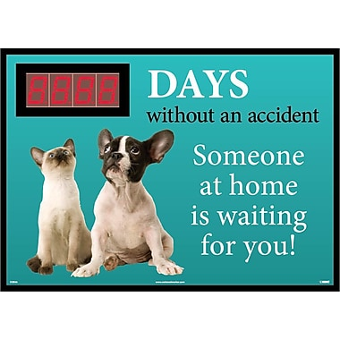 Digital Scoreboard, Xxx Days Without An Accident Someone At Home Is Waiting for You, 28