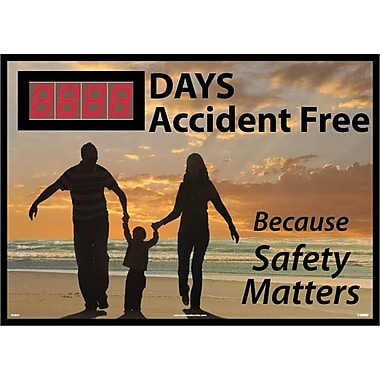 Digital Scoreboard, Xxx Days Accident Free Because Safety Matters, 28