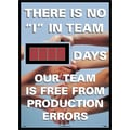 Digital Scoreboard, There Is No in.Iin. In Team, Xxx Days Our Team Is Free From Production Errors,