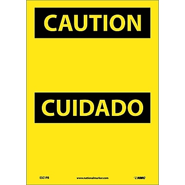 Caution, (Header Only) (Bilingual), 14X10, Adhesive Vinyl
