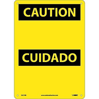 Caution, (Header Only) (Bilingual), 14X10, Rigid Plastic