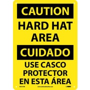 Caution, Hard Hat Area Bilingual, 14X10, .040 Aluminum