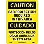 Caution, Ear Protection Required In This Area (Bilingual),