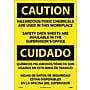 Caution, Hazardous Toxic Chemicals Are Use (Bilingual), 20X14,
