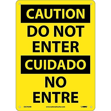 Danger, Do Not Enter, Bilingual, 14X10, .040 Aluminum