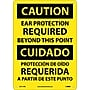 Caution, Ear Protection Required Beyond This Point, Bilingual,