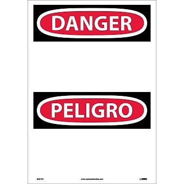 Danger, (Header Only) (Bilingual), 20X14, Adhesive Vinyl