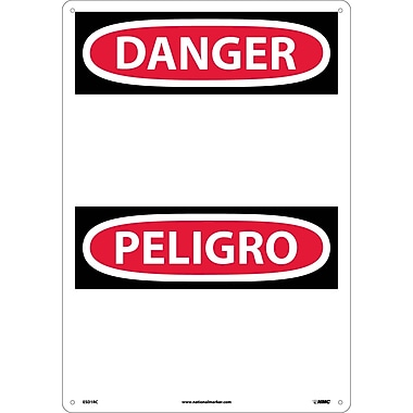 Danger, Peligro (Header Only) (Bilingual), 20X14, Rigid Plastic
