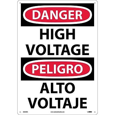 Danger, High Voltage (Bilingual), 20X14, Rigid Plastic