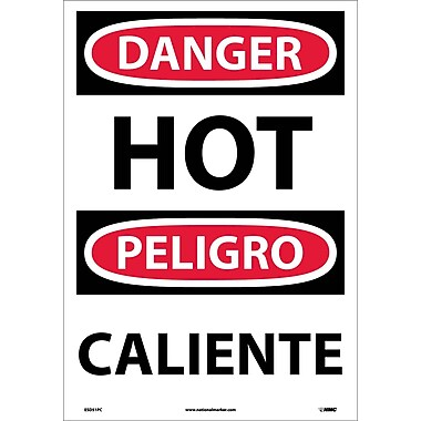 Danger, Hot (Bilingual), 20X14, Adhesive Vinyl
