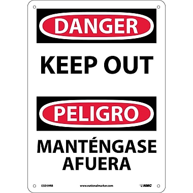 Danger, Keep Out (Bilingual), 14X10, Rigid Plastic