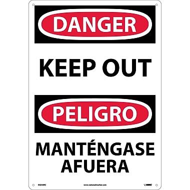 Danger, Keep Out (Bilingual), 20X14, Rigid Plastic