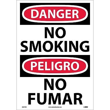 Danger, No Smoking (Bilingual), 20X14, Adhesive Vinyl