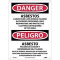 Danger, Asbestos Cancer And Lung Disease. . . (Bilingual), 14X10, Rigid Plastic