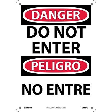 Danger, Do Not Enter Bilingual, 14X10, .040 Aluminum