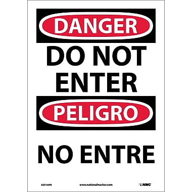 Danger, Do Not Enter Bilingual, 14X10, Adhesive Vinyl