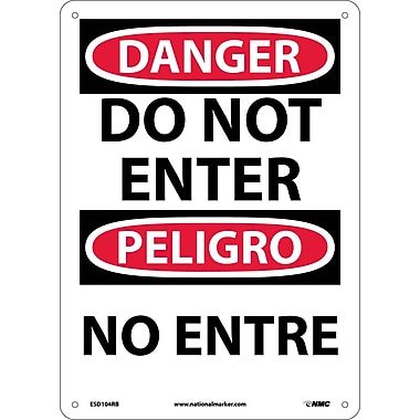 Danger, Do Not Enter Bilingual, 14X10, Rigid Plastic