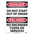 Danger, Do Not Start Out Of Order (Bilingual), 14X10, P/S Vinyl