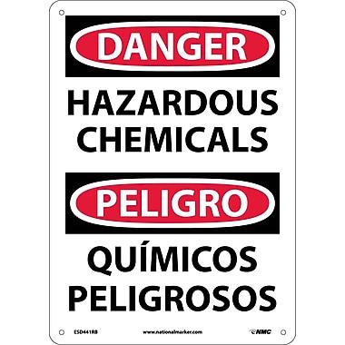 Danger, Hazardous Chemicals Bilingual, 14X10, Rigid Plastic
