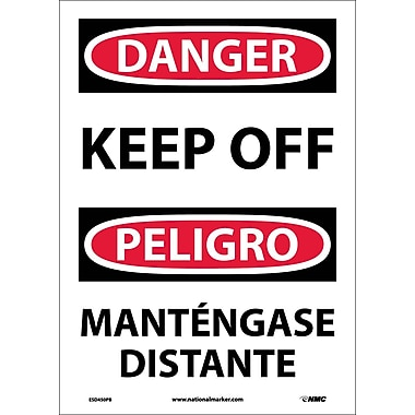 Danger, Keep Off Bilingual, 14X10, Adhesive Vinyl