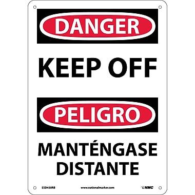 Danger, Keep Off Bilingual, 14X10, Rigid Plastic