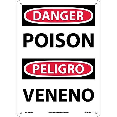 Danger, Poison Bilingual, 14X10, Rigid Plastic