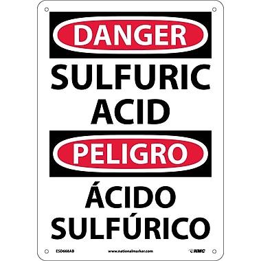 Danger, Sulfuric Acid, Bilingual, 14X10, .040 Aluminum