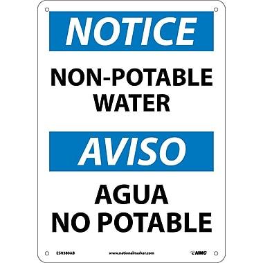 Notice, Non-Potable Water, Bilingual, 14X10, . 040 Aluminum