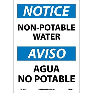 Notice, Non-Potable Water, Bilingual, 14X10, Adhesive Vinyl