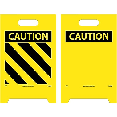 Floor Sign, Dbl Side, Caution (Hazard Stripe) Caution (Blank), 20X12