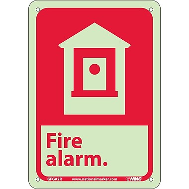 Fire, Fire Alarm, 10X7, Rigid Plasticglow