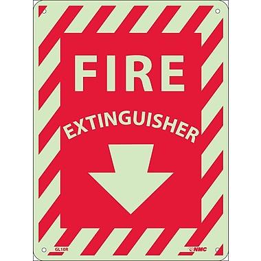 Fire Extinguisher, 12X9, Glow Rigid