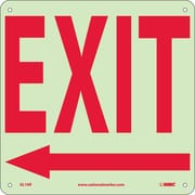 Exit (With Left Arrow), 10X10, Glow Rigid