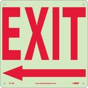 Exit (With Left Arrow), 10X10, Glow Rigid