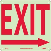 Exit (With Right Arrow), 10X10, Glow Rigid