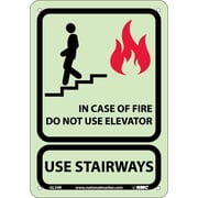 In Case Of Fire Do Not Use Elevator.., 10X7, Glow Rigid