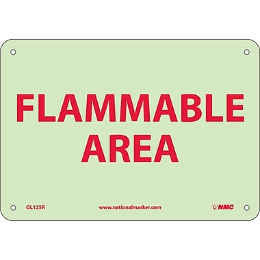 Fire, Flammable Area, 7X10, Rigid Plasticglow