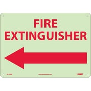 Fire, Fire Extinguisher, Left Arrow, 10X14, Rigid Plasticglow
