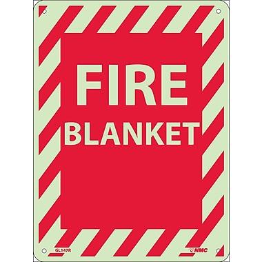 Fire, Fire Blanket, 12X9, Rigid Plasticglow