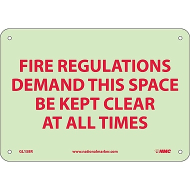 Fire, Fire Regulations Demand This Space Be Kept Clear At All Times, 7