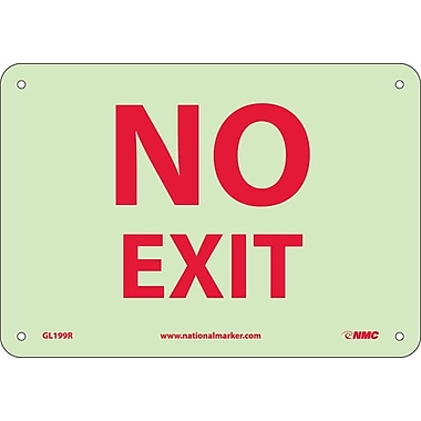 Misc, No Exit, 7X10, Rigid Plasticglow