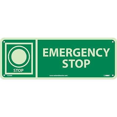 Emergency Stop, 5X14, Glow Rigid