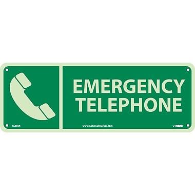 Emergency Telephone, 5X14, Glow Rigid
