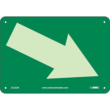 Arrow Graphic Diagonal, 7X10, Glow Rigid