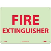Fire Extinguisher, 10X14, Glow Rigid