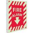 Fire, Fire Alarm, 12X9, Plastic Flangedglow