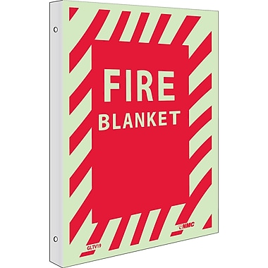 Fire, Fire Blanket, 12X9, Plastic Flangedglow