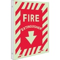 Fire, Fire Extinguisher, 12X9, Plastic Flangedglow